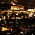 Νυχτερινή θέα από τον Λυκαβητό