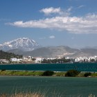 Chalkida city and Dirfi mountain