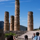 Delphi archaeological site, temple of Apollo