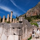 Delphi archeological site, temple of Apollo
