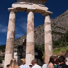 Delphi archaeological site, sanctuary of Athena Pronaia