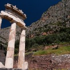 Delphi archeological site, sanctuary of Athena Pronaia