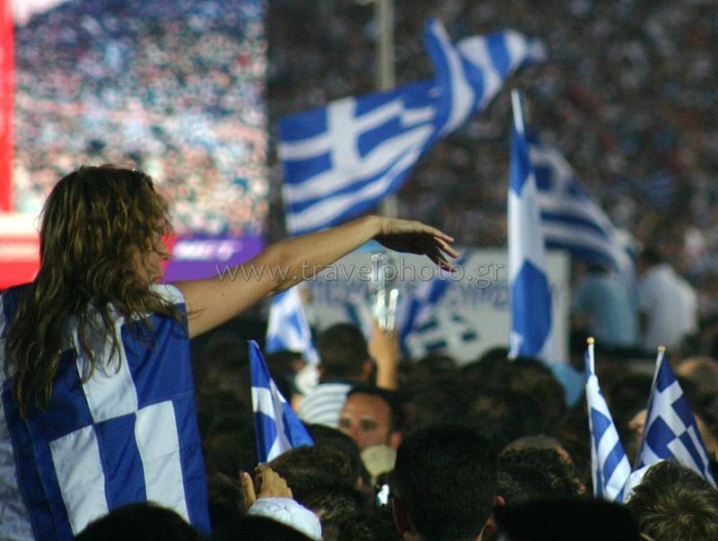 Euro 2004, οι Ελληνικοί πανηγυρισμοί στο Καλλιμάρμαρο