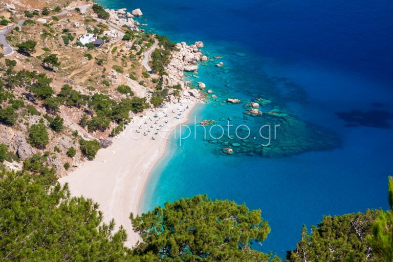 Beaches and villages in Karpathos island