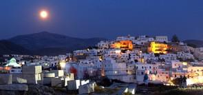 Naxos Chora Portara full moon