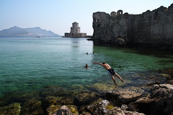 Methoni, castle and Bourtzi tower