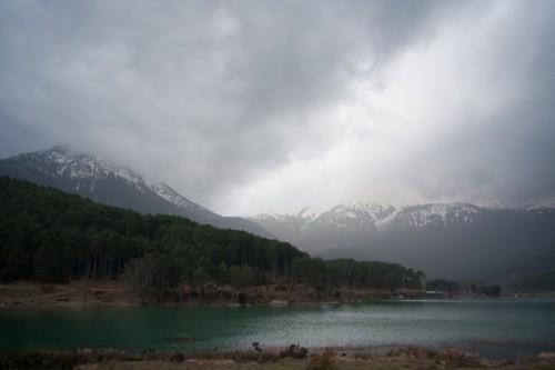 Χειμώνας στη λίμνη Δόξα, νομός Κορινθίας