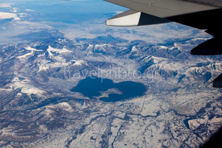 Πετώντας πάνω από Πρέσπες και λίμνη Καστοριάς