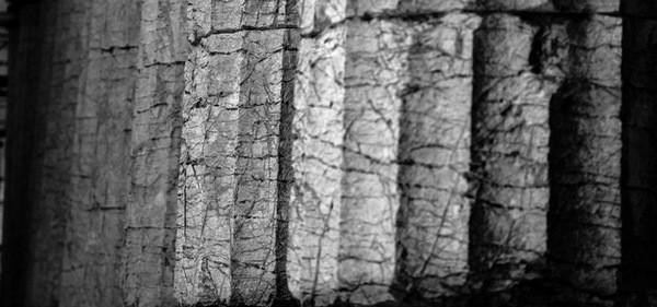 Οι εξωτερικοί κίονες στο ναό Επικούριου Απόλλωνα