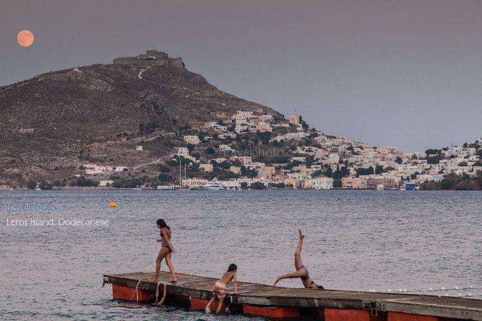 Πανσέληνος στη Λέρο, Δωδεκάνησα - Full moon in Leros island, Dodecanese-Greece