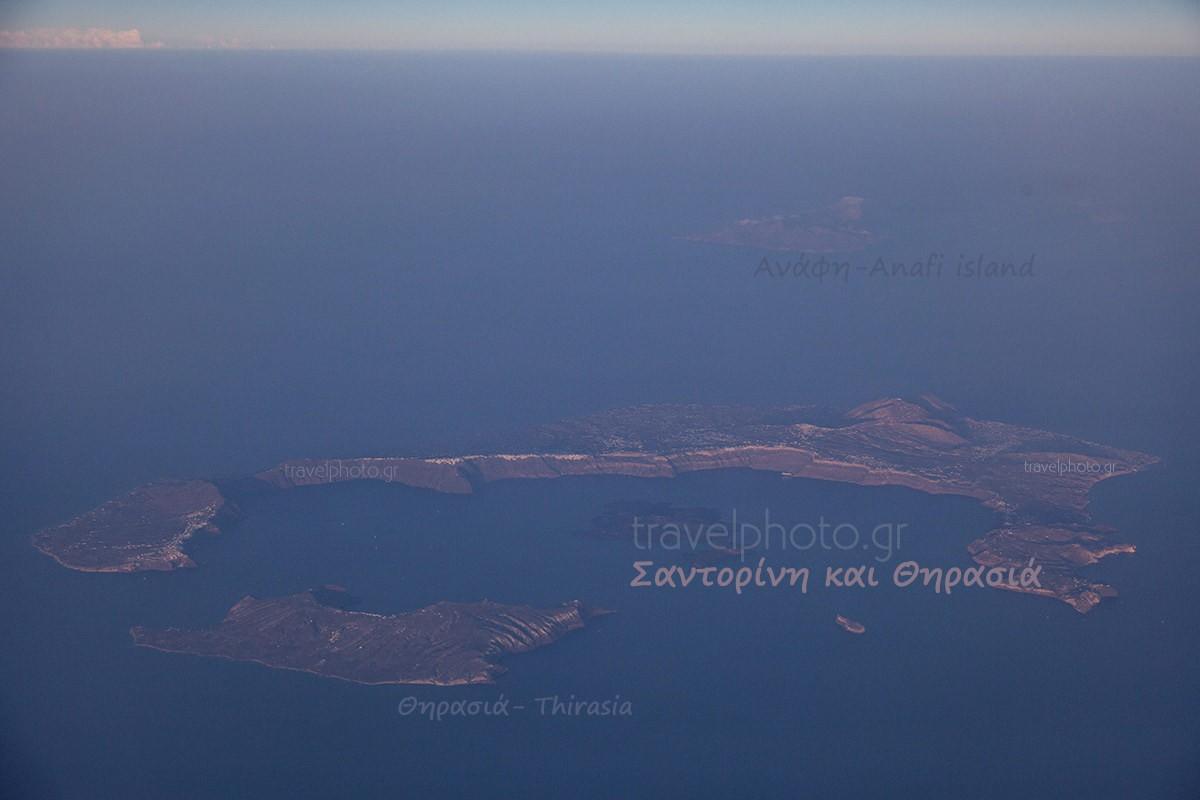 Πετώντας πάνω από την Σαντορίνη, αεροφωτογραφία